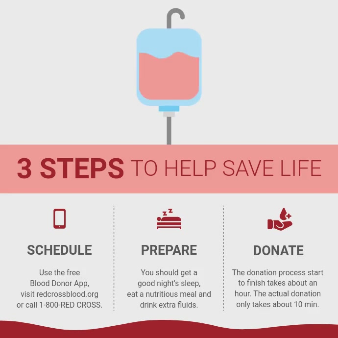 Blood Donation Square Video 方形(1:1) template