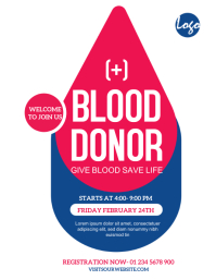 Blood Donor Event Flyer