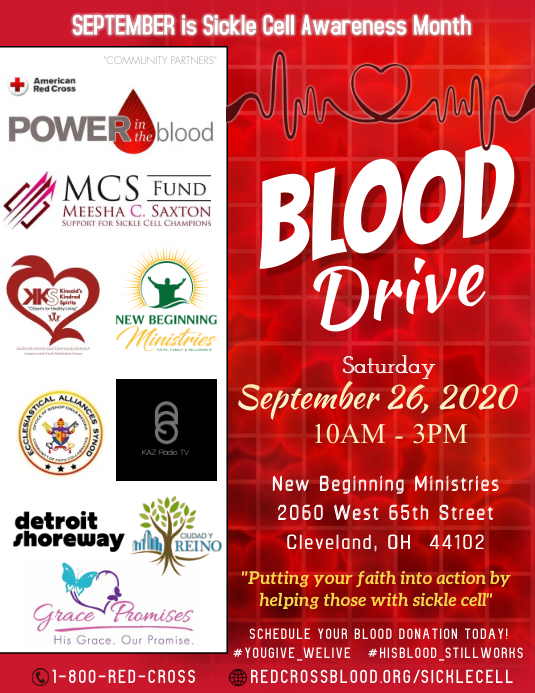 Blood Drive Pamflet (VSA Brief) template