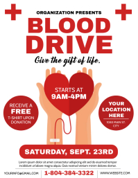 BLOOD DRIVE Flyer (US Letter) template