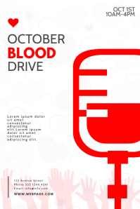 Blood Drive Donation Flyer Template Poster