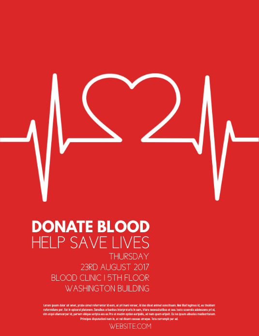 blood drive template