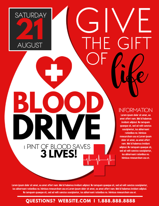 BLOOD DRIVE Folheto (US Letter) template