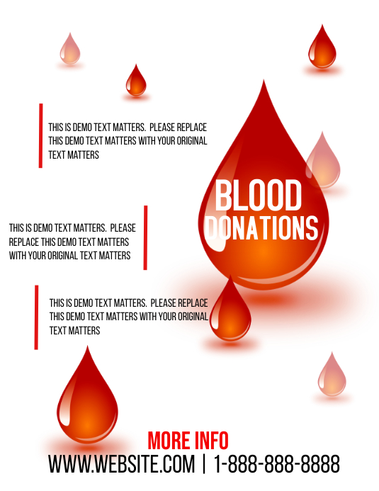 blood donation template