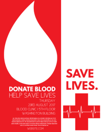 Customizable design templates for donate blood postermywall blood drive altavistaventures Image collections