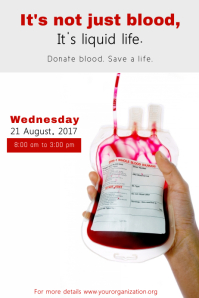 Blood Drive Poster Template
