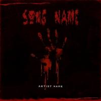 BLOOD HAND Album cover art template Albumcover