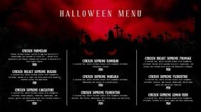 Blood Red Halloween Menu Digital Display Video