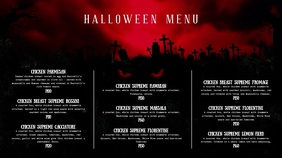Blood Red Halloween Menu Digital Display Video