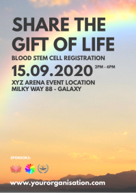 Blood Stem Cell Donation Flyer Event Poster
