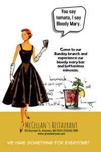 Bloody Mary Bar Brunch Flyer Template