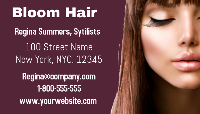 Bloom Hair Business Card 名片 template