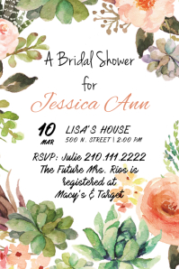 Blooming Bride Invite