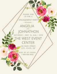 Blooming Love Engagement Party