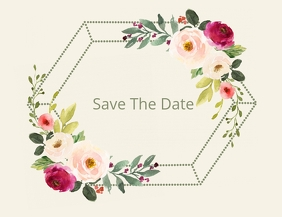 Blooming Love Save The Date