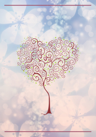 Blossom heart tree A2 template