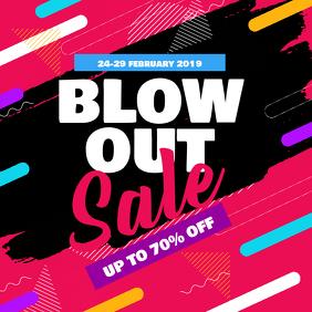 Blow Out Sale Discount Promotion Instagram Social Media