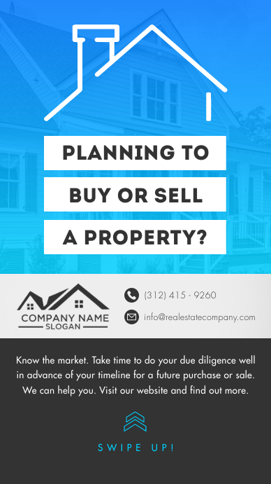 Blue & Grey Real Estate Instagram Story template