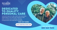 Blue & White Assisted Living Facebook Image template