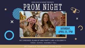 Blue and Beige Prom Night Event Facebook Cove