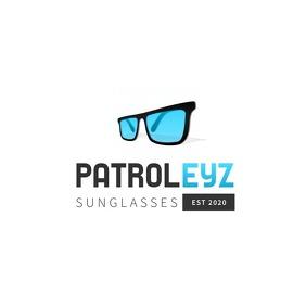 Blue and Black Sunglasses Logo template