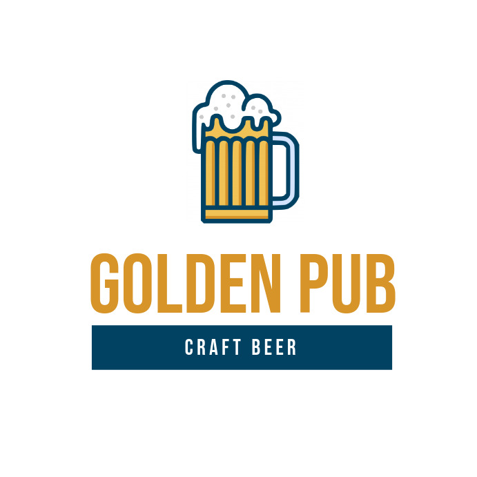 Blue and Gold Pub Logo