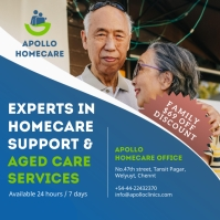 Blue and Green Aged Care Instagram post template