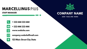 Blue and green business card design template