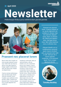 Blue and Green Company Newsletter