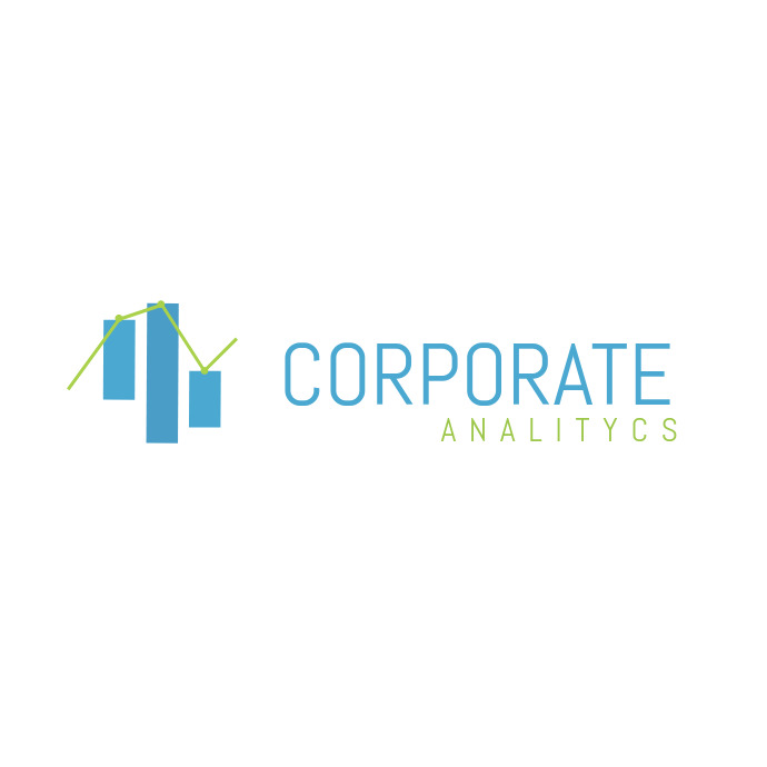 Blue and Green Corporate Logo