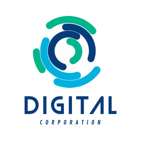 Blue and Green Digital Corporation Logo template