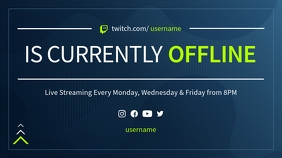 Blue and Green Offline Twitch Banner