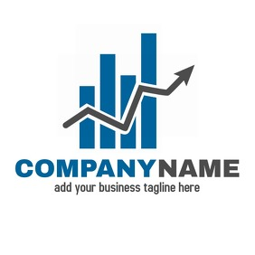 Blue and Grey financial investment logo Логотип template