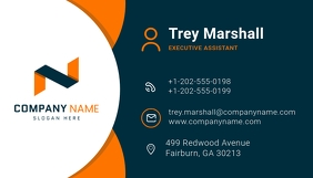 Blue and Orange Modern Business Card
