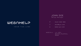 blue and purple business card
