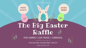 Blue and Purple Easter Raffle Facebook Cover Video