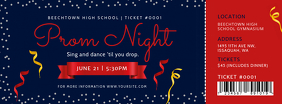 Blue and Red Prom Night Event Ticket