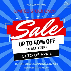 Blue and Red Sale Square Video