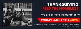 Blue and red Thanksgiving Feed the Homeless B Facebook Cover Photo template