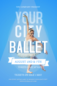 Blue and White City Ballet Poster