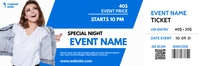 blue and white generic ticket template design Bannière 2' × 6'