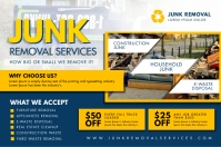Blue and White Junk Removal Poster Design Póster template