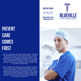 Blue and White Medical Trifold Brochure