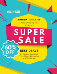 Blue and Yellow Generic Sale Flyer