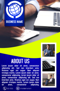 blue and yellow multiprupose business flyer template