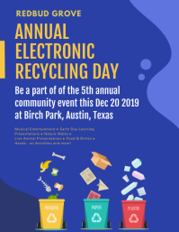 Blue Annual Recycling Event Flyer