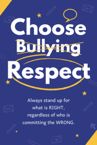 Blue Anti-Bullying Classroom Poster