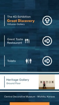 Blue Art Gallery Directory Digital Signage