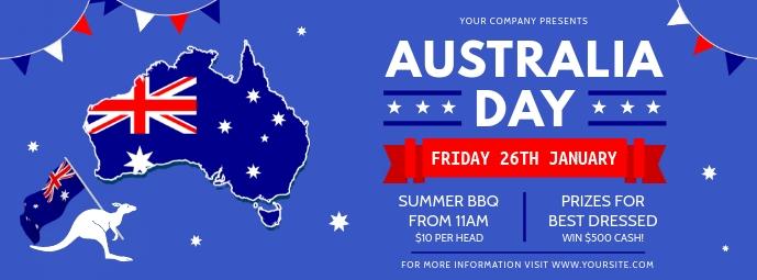 Blue Australia Day Banner Template Portada de Facebook