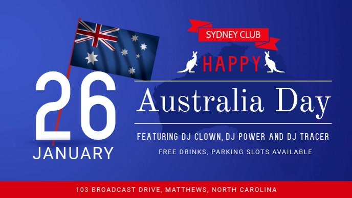 Blue Australia Day FB Cover Video